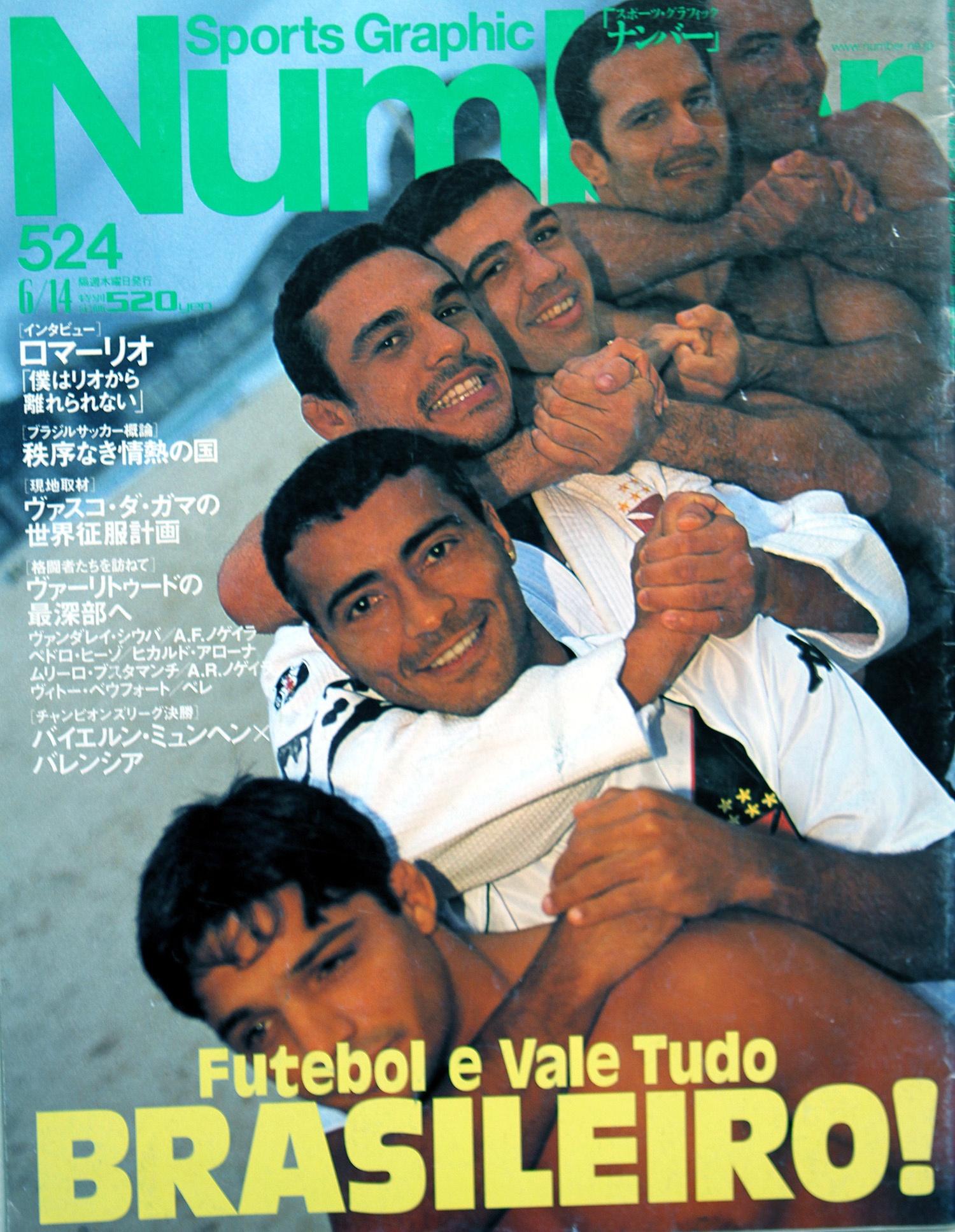 Capa da mais importante revista de esportes do Japão - Foto: Marcelo Alonso